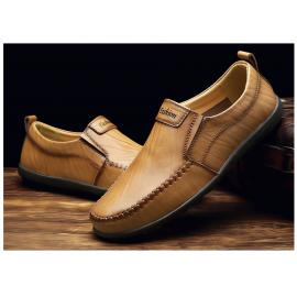 ALCUBIEREE Brand Men Casual Shoes Leather Slip-on Fashion Breather Men Shoes Summer Zapatos Hombre